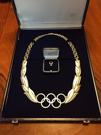 Olympic Order - Olympic Order and its relative badge, produced by GDE Bertoni Milano, Collection Fabio Ferrari