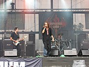 Orphaned Land, seen here performing live at the 2007 Summer Breeze Open Air, is a leading performer of oriental metal.