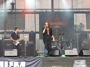 Folk metal - Orphaned Land, seen here performing live at the 2007 Summer Breeze Open Air, is a leading performer of oriental metal.