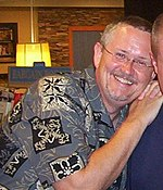 Orson Scott Card at a book signing
