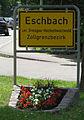 Ortsschild von Eschbach, Zollgrenzbezirk.jpg