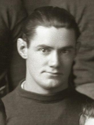 Oscar Lambert - Lambert cropped from 1917 Michigan team portrait