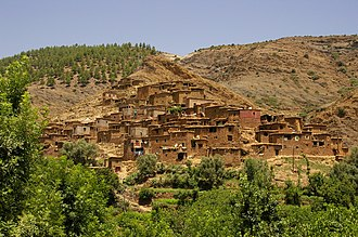 Berber village in Ourika valley, High Atlas, Morocco Ourika berbere village.jpg
