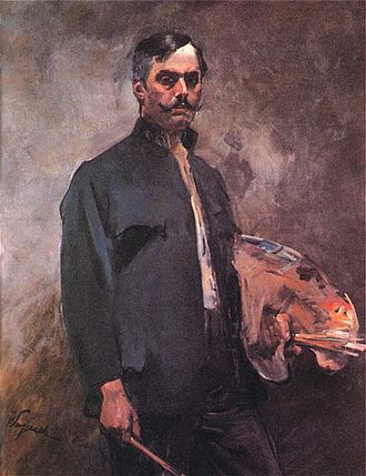 Wojciech Kossak - Wojciech Kossak, self-portrait.