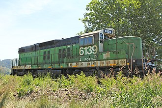 Oregon Coast Scenic Railroad - Port of Tillamook Bay No. 6139 at Garibaldi, Ore. June 2015