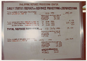 Indochina refugee crisis - The Philippine Refugee Processing Center became the temporary home of many Indochinese refugees en route to resettlement countries in the 1980s.
