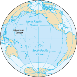 Pacific Ocean Ocean between Asia and Australia in the west, the Americas in the east and Antarctica or the Southern Ocean in the south.