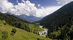 View of valley near Pahalgam town