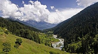 Kashmir - Pahalgam Valley, Kashmir.