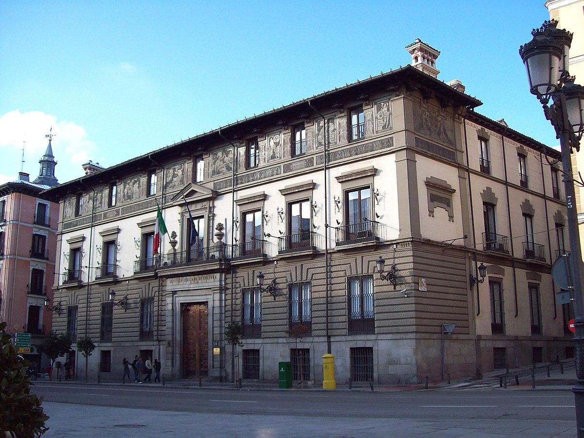 Palacio de abrantes wikipedia la enciclopedia libre for Instituto italiano de cultura madrid