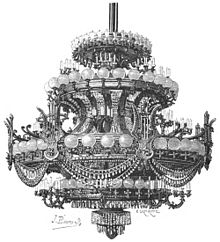Palais Garnier - Wikipedia:Auditorium chandelier,Lighting