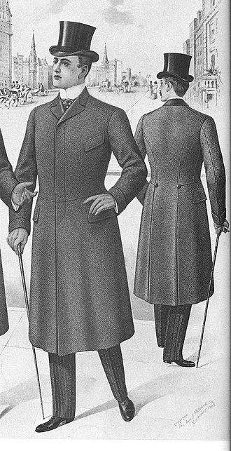 Fly (clothing) - A fly-fronted paletot coat (1903)