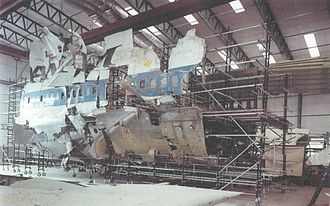Pan Am Flight 103 bombing investigation - Three-dimensional reconstruction of part of the fuselage