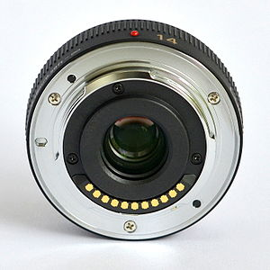 Micro Four Thirds system - The lens mount of the Panasonic Lumix G 14mm F2.5 ASPH