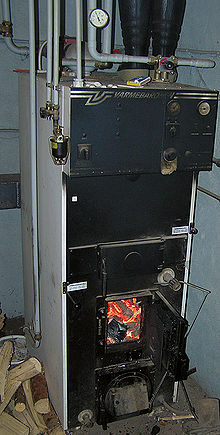 Energy efficient wood boiler