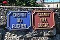 Panneaux de rue français-occitan, Belloc, Ariège (1).jpg