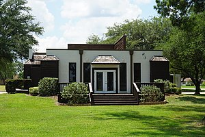 Panola College - The Sid Baker Turner Memorial Chapel on the Panola College campus has a rustic appearance.