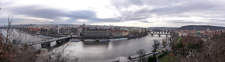 Panoramic view of the river