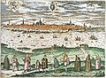 Panorama Rostock Franz Hogenberg 1597.jpg