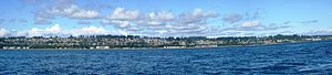 English: Campbell River panoramic photo taken ...