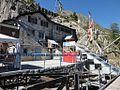 Parc d'Attractions du Châtelard, Schweiz. Historische Standseilbahn in Bergstation Les Montuires.jpg