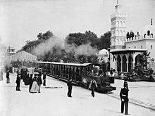 Chemin de fer Decauville à l'exposition universelle de Paris de 1889