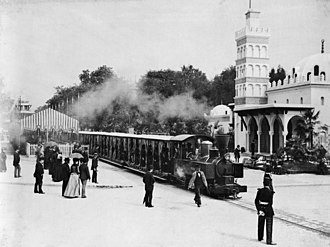 Decauville railway at Exposition Universelle (1889) - Image: Paris Exposition train 1889