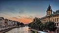 Paris sunset from the Pont Saint-Michel, Paris July 2013.jpg