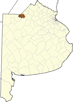 location of Leandro Alem in Buenos Aires Province