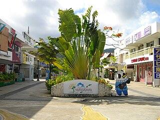 largest village on the island of Saipan