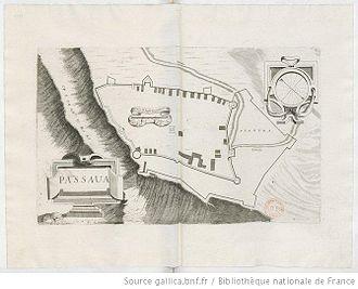 Las (Greece) - Sketch of the castle by the Venetian Vincenzo Coronelli, 1689