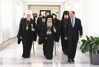 Patriarch Theophilos III of Jerusalem - Patriarch Theophilos III of Jerusalem in the Senate of the Republic of Poland (2010).