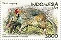 Paucidentomys vermidax 2019 stamp of Indonesia.jpg