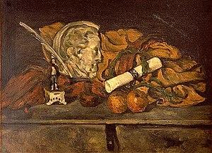Philippe Solari - Still life with medallion by Philippe Solari, Paul Cézanne 1873