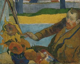 Van Gogh Museum - The Painter of Sunflowers, a portrayal of Vincent van Gogh painting sunflowers by Paul Gauguin, 1888