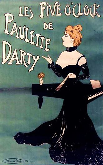 Maurice Biais - French cabaret star Paulette Darty (1870-1939) in a 1902 poster by Maurice Biais