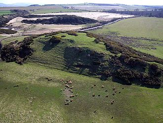 Hillforts in Britain - Kite aerial photo of Peace Knowe Hillfort