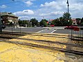 Pedestrian crossing at former Mount Hood Road station, August 2016.JPG