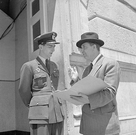 With King Peter II in Italy after meeting Tito.