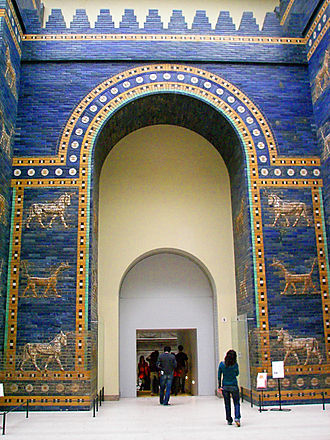 Mušḫuššu - Reconstruction of the Ishtar Gate at Pergamon Museum in Berlin