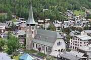 Pfarrkirche St Mauritius Zermatt 20110605