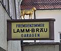 Pfullendorf Lamm-Bräu Schild.jpg