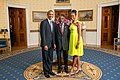 Phandu Skelemani with Obamas 2014.jpg
