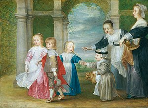 Philip Fruytiers - The four children of Rubens and Helena Fourment with maids