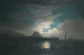 Philip John Ouless - Moonrise over Gorey.png