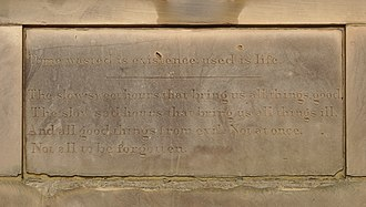 Picton Clock Tower - Image: Picton Clock inscription 1