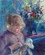 Pierre-Auguste Renoir - Jeune Femme cousant