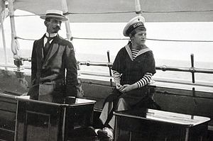 Pierre Gilliard - Gilliard and Tsarevich Alexei on board the imperial yacht ''Standart''