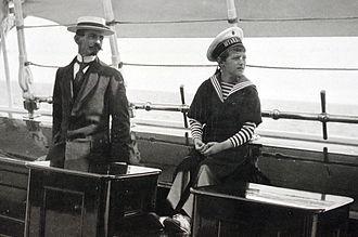 Pierre Gilliard - Gilliard and Tsarevich Alexei on board the imperial yacht Standart