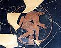 Pittore di ambrosios, kylix con arciere scita, eracle ed ermes, poseidone e apollo, da orvieto, 520-500 ac ca. 02.JPG